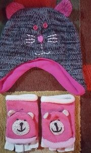 Other - *BUNDLE* GOOD CONDITION kid's hat and mittens